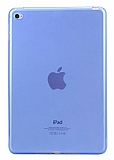 iPad 2 / 3 / 4 Şeffaf Mavi Silikon Kılıf