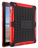 iPad 2 / 3 / 4 Ultra Süper Koruma Standlı Kırmızı Kılıf