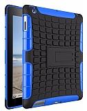 iPad 2 / 3 / 4 Ultra Süper Koruma Standlı Mavi Kılıf