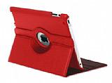 iPad 2 / iPad 3 / iPad 4 360 Derece D�ner Standl� K�rm�z� Deri K�l�f