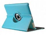 iPad 2 / iPad 3 / iPad 4 360 Derece Döner Standlı Mavi Deri Kılıf