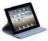 iPad 2 / iPad 3 / iPad 4 360 Derece Döner Standlı Siyah Deri Kılıf