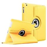 iPad 2 / iPad 3 / iPad 4 360 Derece Döner Standlı Sarı Deri Kılıf