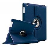 iPad 2 / iPad 3 / iPad 4 360 Derece Döner Standlı Lacivert Deri Kılıf