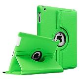 iPad 2 / iPad 3 / iPad 4 360 Derece Döner Standlı Yeşil Deri Kılıf