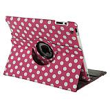 iPad 2 / iPad 3 / iPad 4 360 Derece Döner Standlı Puantiyeli Pembe Kılıf
