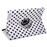 iPad 2 / 3 / 4 360 Derece Döner Standlı Puantiyeli Beyaz Kılıf