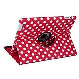 iPad 2 / iPad 3 / iPad 4 360 Derece Döner Standlı Puantiyeli Kırmızı Kılıf