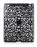 iPad 2 / iPad 3 / iPad 4 Floral Siyah Rubber Kılıf