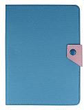 iPad Air / iPad 9.7 Standlı Cüzdanlı Mavi Deri Kılıf