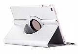 iPad 9.7 2017 360 Derece Döner Standlı Beyaz Deri Kılıf