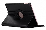 iPad 9.7 2017 360 Derece Döner Standlı Siyah Deri Kılıf
