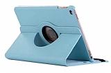 iPad 9.7 2017 360 Derece Döner Standlı Mavi Deri Kılıf