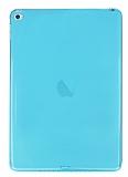 iPad Air 2 Şeffaf Mavi Silikon Kılıf