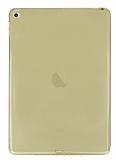 iPad Air 2 Şeffaf Gold Silikon Kılıf
