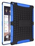 iPad Air / iPad 9.7 Ultra Süper Koruma Standlı Mavi Kılıf