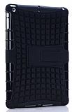 iPad Air / iPad 9.7 Ultra Süper Koruma Standlı Siyah Kılıf