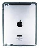 iPad 2 / iPad 3 / iPad 4 Siyah Silikon Kenarl� �effaf Rubber K�l�f