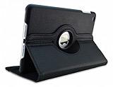 iPad Mini 2 / Mini 3 360 Derece D�ner Standl� Siyah Deri K�l�f
