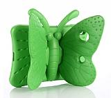 iPad Mini 2 / Mini 3 Kelebek Çocuk Tablet Yeşil Kılıfı