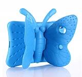 iPad Mini 2 / Mini 3 Kelebek Çocuk Tablet Mavi Kılıfı