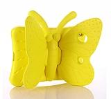 iPad Mini 2 / Mini 3 Kelebek Çocuk Tablet Sarı Kılıfı
