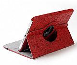 iPad 2 / iPad 3 / iPad 4 360 Derece Döner Standlı Cartoon Kırmızı Deri Kılıf