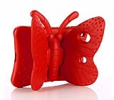 iPad Mini 4 Kelebek Çocuk Tablet Kırmızı Kılıfı