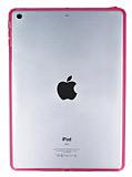 iPad Air Pembe Silikon Kenarl� �effaf Rubber K�l�f