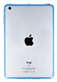 iPad Mini / Mini 2 / Mini 3 Mavi Silikon Kenarl� �effaf Rubber K�l�f