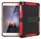iPad Mini / Mini 2 / Mini 3 Ultra Süper Koruma Standlı Kırmızı Kılıf