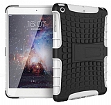 iPad Mini / Mini 2 / Mini 3 Ultra Süper Koruma Standlı Beyaz Kılıf