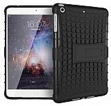iPad Mini / Mini 2 / Mini 3 Ultra Süper Koruma Standlı Siyah Kılıf