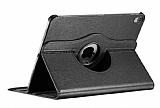 iPad Pro 12.9 2018 360 Derece Döner Standlı Siyah Deri Kılıf