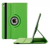 Apple iPad Pro 9.7 360 Derece Döner Standlı Yeşil Deri Kılıf