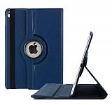 Apple iPad Pro 9.7 360 Derece Döner Standlı Lacivert Deri Kılıf