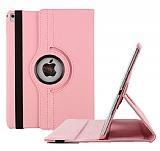 Apple iPad Pro 9.7 360 Derece Döner Standlı Pembe Deri Kılıf