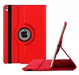 Apple iPad Pro 9.7 360 Derece Döner Standlı Kırmızı Deri Kılıf