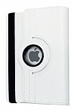 iPad Pro 9.7 360 Derece Döner Standlı Beyaz Deri Kılıf