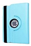 iPad Pro 9.7 360 Derece Döner Standlı Mavi Deri Kılıf