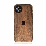 Woodenzy iPhone 11 Doğal Ceviz Ahşap Kaplama