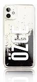 iPhone 11 Kişiye Özel Simli Sulu Siyah Rubber Kılıf