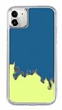 iPhone 11 Neon Kumlu Mavi Silikon Kılıf