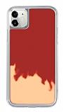 iPhone 11 Neon Kumlu Kırmızı Silikon Kılıf