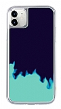iPhone 11 Neon Kumlu Lacivert Silikon Kılıf
