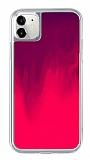 iPhone 11 Neon Kumlu Pembe Silikon Kılıf