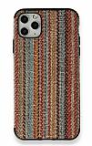 iPhone 11 Pro Turuncu Kumaş Silikon Kılıf