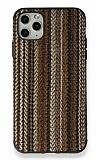iPhone 11 Pro Kahverengi Örgü Kumaş Silikon Kılıf
