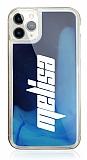 iPhone 11 Pro Kişiye Özel Neon Kumlu Lacivert Silikon Kılıf