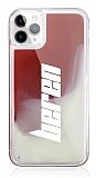 iPhone 11 Pro Kişiye Özel Neon Kumlu Kırmızı Silikon Kılıf